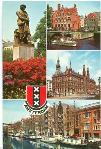 Netherlands, Amsterdam, multi view, 1978 used Postcard