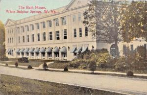 WHITE SULPHUR SPRINGS WEST VIRGINIA~BATH HOUSE POSTCARD