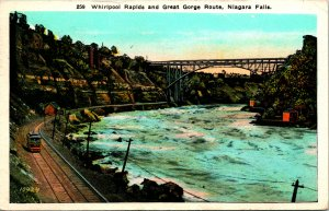 Whirlpool Rapids Great Gorge Route Niagara Falls NY Postcard used 1924