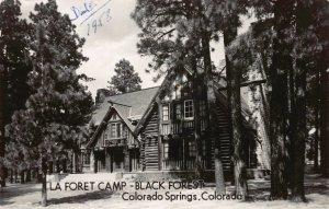 Real Photo Postcard La Foret Camp Black Forest Colorado Springs Colorado~117946