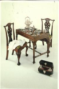 Tea Setting, England, 1755-1770, 1985 used Postcard