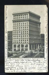CLEVELAND OHIO WILLIAMSON BUILDING DOWNTOWN TROLLEY CAR VINTAGE POSTCARD