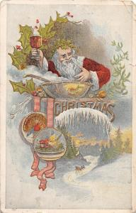 E11/ Santa Claus Merry Christmas Holiday Postcard 1907 Challis Fancy 2
