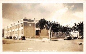 F41/ Pocatello Idaho RPPC Postcard 1942 High School Building