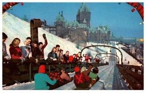 Canada Quebec Toboggan Slide on Dufferin Terrace