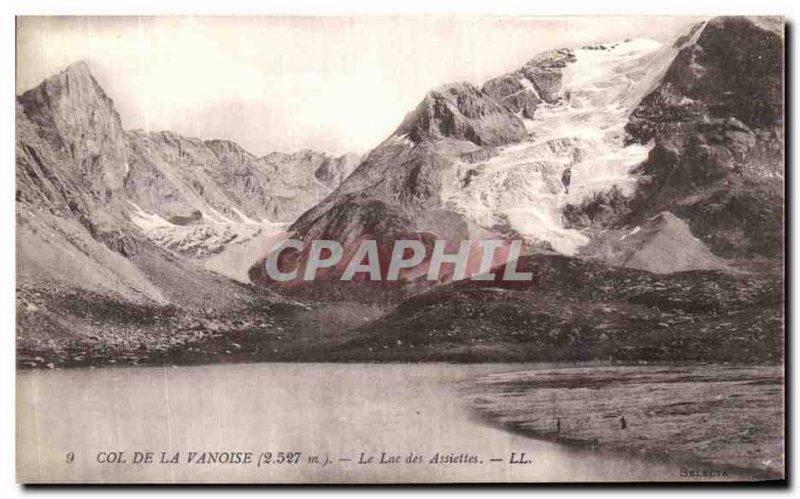 Old Postcard Col De La Vanoise Lake Plates