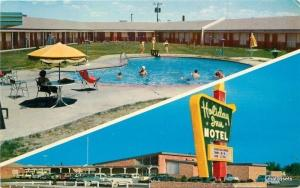 1950s Holiday Inn Motel Pool Roswell New Mexico McGarr postcard 1017