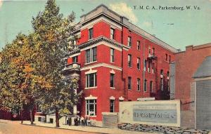 Parkersburg WV YMCA,  A. P. Moss Book Store Bill Board 1912 Postcard
