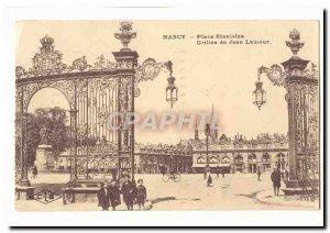 Nancy Place Stanislas Postcard Old grilles Jean Lamour (children)