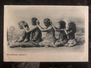 Mint India RPPC Postcard Women Madras Hunt Head Lice