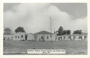 Perry Florida~Holmes Modern Tourist Cabin Trailer Park~1940s B&W