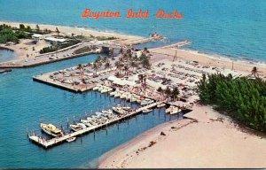 FLorida Boynton Beach Aerial View Martie Hahn's Boynton Inlet Dock 1966