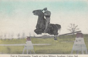 CULVER, Indiana, 1913; Feat in Horsemanship Taught at Culver Military Academy