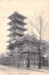 Brussels Belgium Laeken Japanese Tower Pagoda Antique Postcard J77794