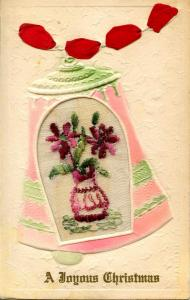 Embroidered Silk - A Joyous Christmas
