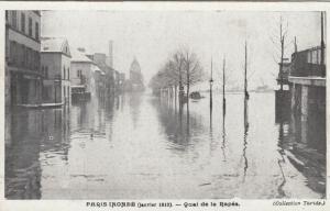 Inondations de Paris (Janvier 1910) Quai de la Rapee, FRANCE