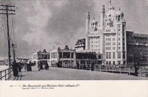 New Jersey Atlantic City The Boardwalk And Blenheim Hotel