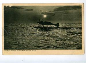247460 WWI GERMANY Marine monoplane Vintage military postcard