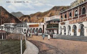 Yemen Aden Crescent No. 61 Hotel de l'Europe, Animated, Native People