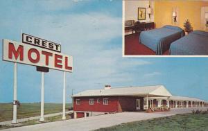 2-Views, Crest Motel, Williamsburg, Iowa, 40-60s