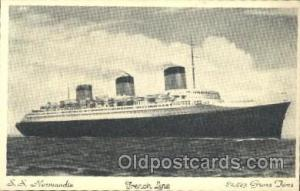 S.S. Normandie French Line, Lines, Ship Ships Postcard Postcards  SS Normandie