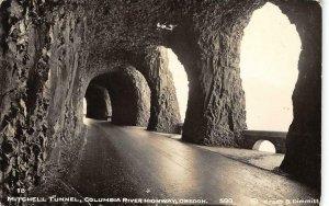 RPPC MITCHELL TUNNEL Columbia River Hwy, Oregon Cross & Dimmitt Vintage Postcard