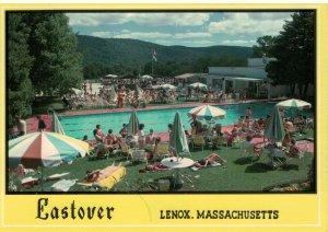 Eastover, Year Round Resort Pool, Lenox, Massachusetts Postcard
