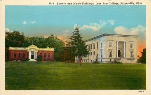 Painesville Ohio~Lake Erie College~Library and Music Buildings~1932 Postcard