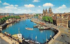 Prins Hendrikkade and St Nicolas' Church Holland 1966