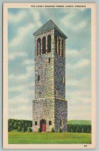 Luray Virginia~Luray Singing Tower~Vintage Postcard