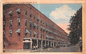 Foster Building Clifton Springs, New York Postcard