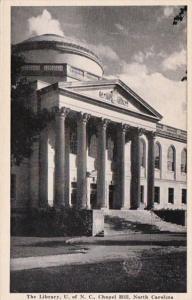 North Carolina Chapel Hill The Library The University Of North Carolina