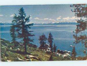 1940's LAKE SCENE Lake Tahoe California CA hp6192