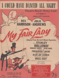 I Could Have Danced All Night My Fair Lady 1940s Sheet Music