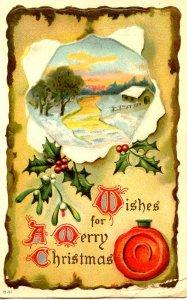 Greeting - Christmas. (crease)
