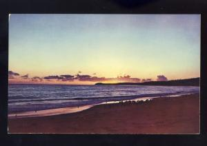 Malibu, California/CA Postcard, Sunset Over Point Dume From Coral Beach
