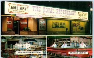 BOISE, Idaho  ID   Roadside  THE ROYAL RESTAURANT  Interior  c1950s  Postcard