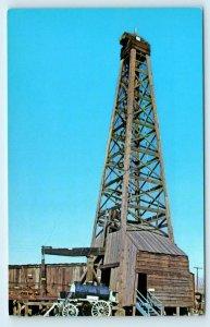 BAKERSFIELD, CA~Pioneer Village OIL DERRICK c1950s Kern County Roadside Postcard