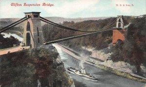 Clifton Suspension Bridge, England, Early Postcard, Unused