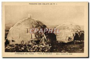 Old Postcard Polar Missions Oblates of MI America North whiteness Palace snow...