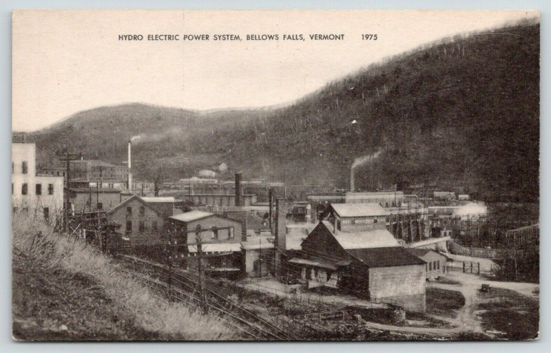 Bellows Falls VT~Hydro Electric Power System~Frank Adams Grain Feed Store~1920s