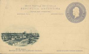 argentina, BUENOS AIRES, Boca del Riachuelo (1899) Stationery Embossed