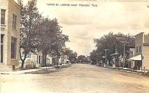 Fremont WI Water Street Bank Business District RPPC Postcard