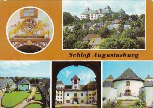 Germany Augustusburg Schloss Stallhof Glockenturm und Brunnenhaus