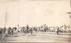 E47/ Native American Indian Real Photo RPPC Postcard c1910 Horses Show Crowd 7
