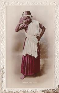 India Beautiful Salanese Girl Real Photograph