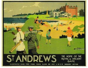 postcard Golf St. ANDREWS / L.N.E.R. POSTER (beach)