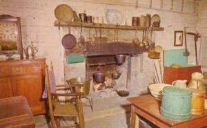 Interior, Rutledge Tavern, New Salem State Park, Illinois...