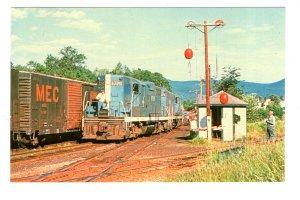 Maine Central Railroad Railway Train, Crawford Notch Station, New Hampshire