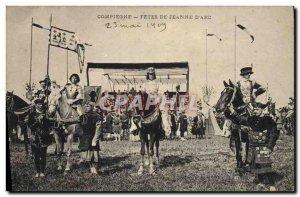 Old Postcard Fetes de Jeanne d & # 39Arc Compiegne